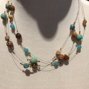 """9"""" - 4 strands beaded necklace"""